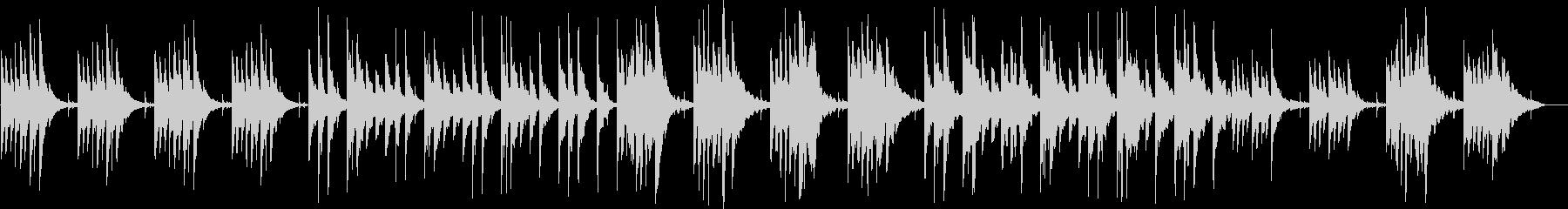 静かなピアノのリラクゼーション曲の未再生の波形