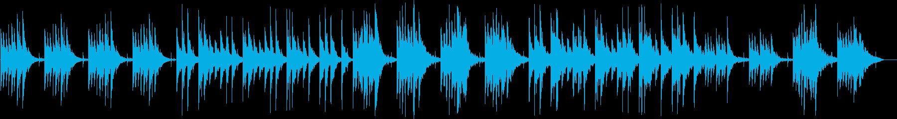 静かなピアノのリラクゼーション曲の再生済みの波形