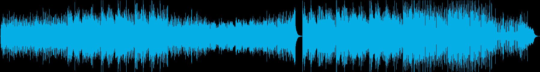 【動画】自己啓発系向けほのぼのBGMの再生済みの波形