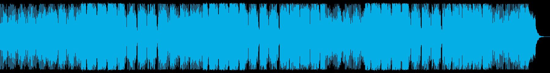 デジタルチックでダークなBGMの再生済みの波形