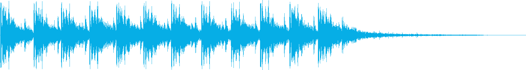 マシンガン発射1の再生済みの波形
