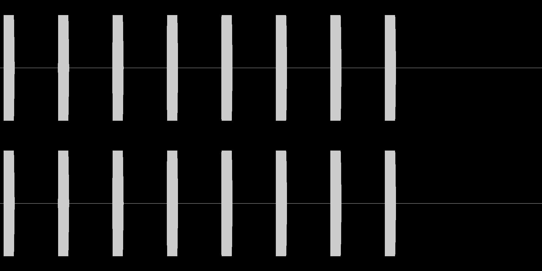 コミカルな足音 D-5-3の未再生の波形