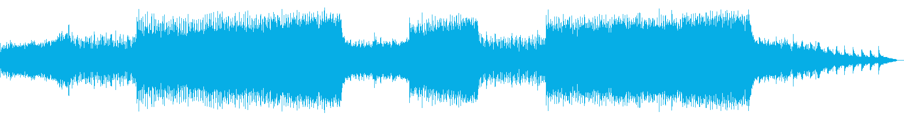 近未来的でポップなハウスミューシックの再生済みの波形