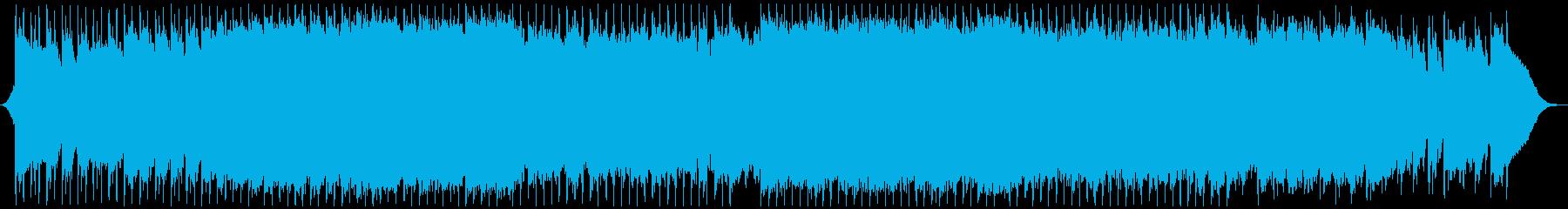 優しいアコースティックBGMの再生済みの波形
