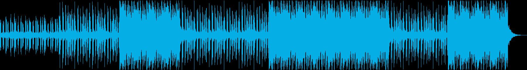 ゆったりと流れるトロピカルヒップホップビの再生済みの波形
