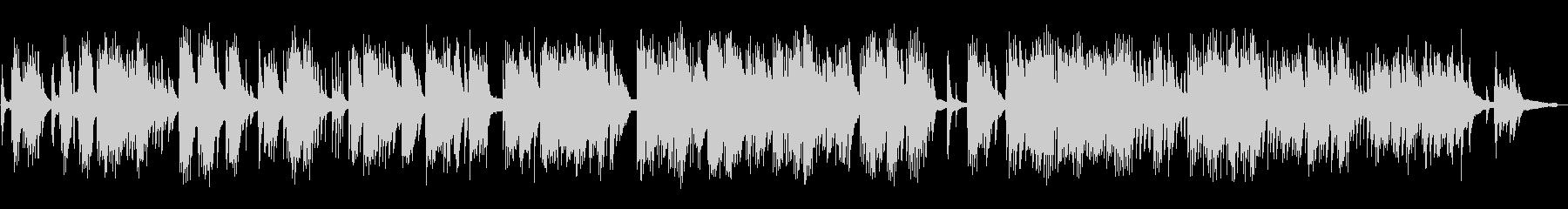 静かなピアノの未再生の波形