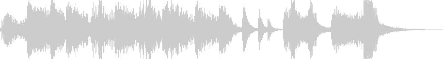 軽やかでワクワクなジングル・アイキャッチの未再生の波形