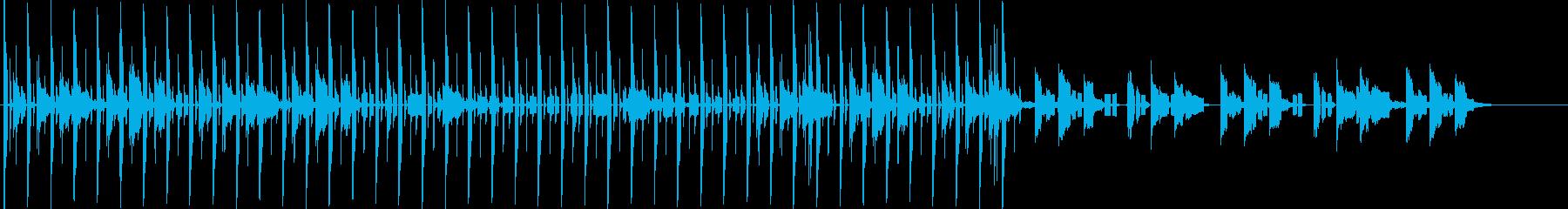 リズミカルなビートと落ち着きのあるBGMの再生済みの波形