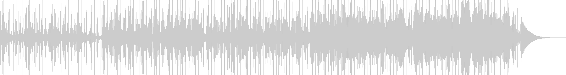 ピアノ&電子ドラムの切ないバラードの未再生の波形
