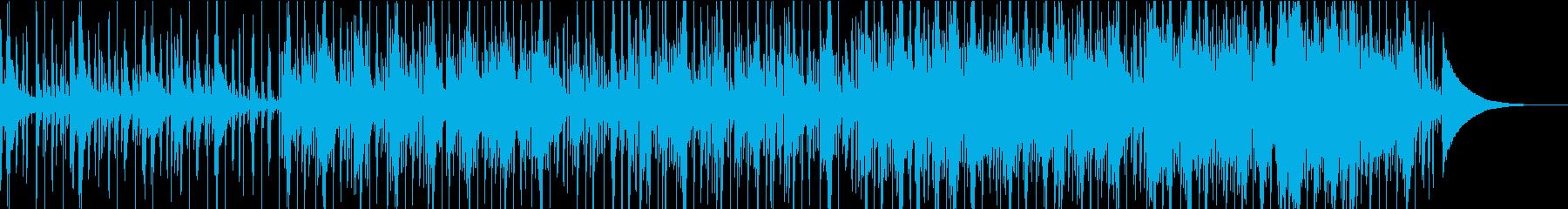 ピアノ&電子ドラムの切ないバラードの再生済みの波形