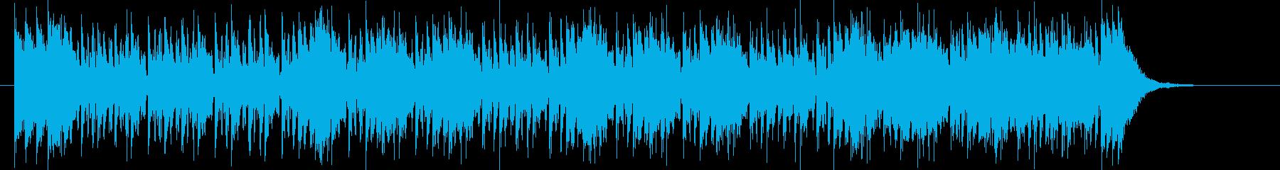 激しいフュージョンバンドのジングルの再生済みの波形
