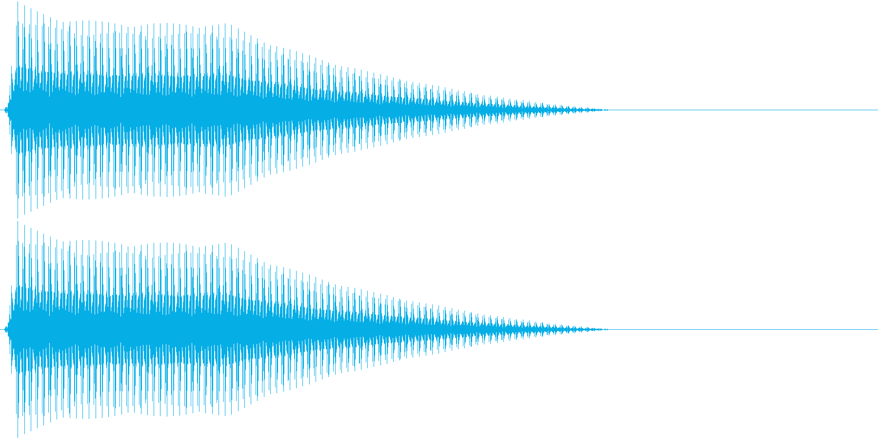 OctaveCom アプリ用タッチ音9の再生済みの波形