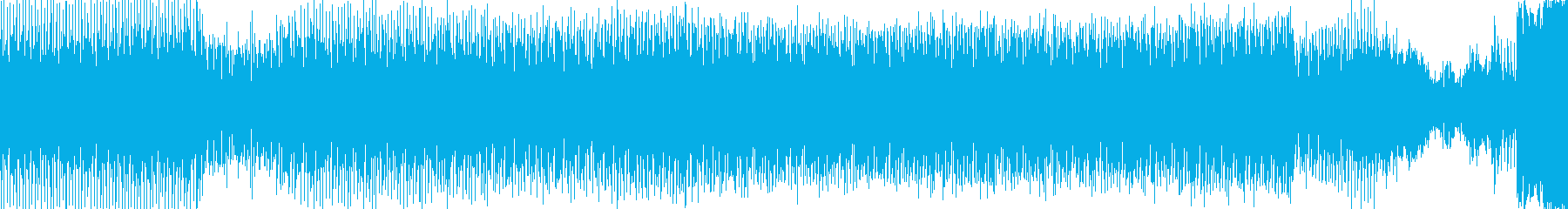 軽快で激しさのあるナイトクラブ的なEDMの再生済みの波形