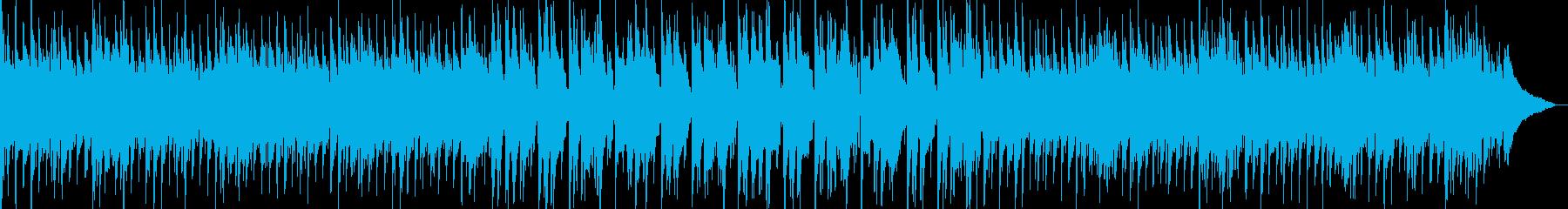 南国・ハワイ風のゆったりとしたBGMの再生済みの波形