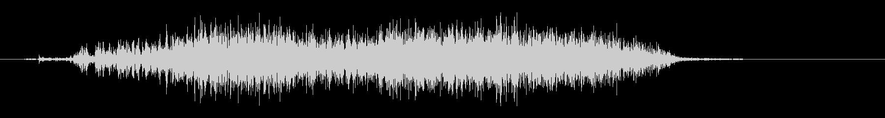 スゥーッ(紙を裂いたような音)の未再生の波形