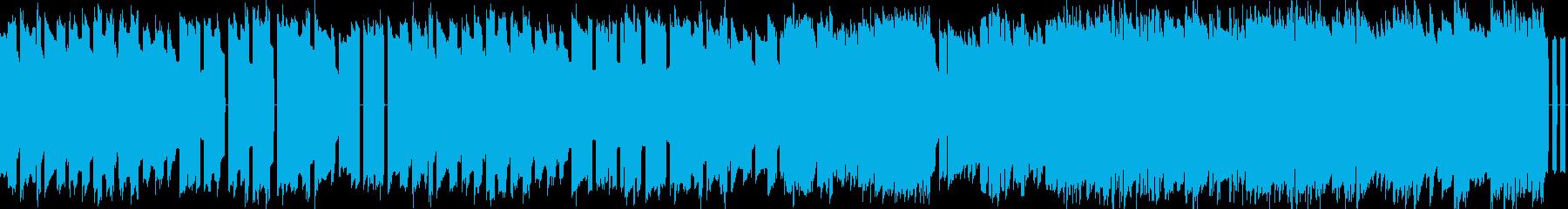 フィールド曲8bitファミコンBGMの再生済みの波形