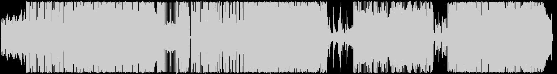 テンポの速いノリの良いロックの未再生の波形