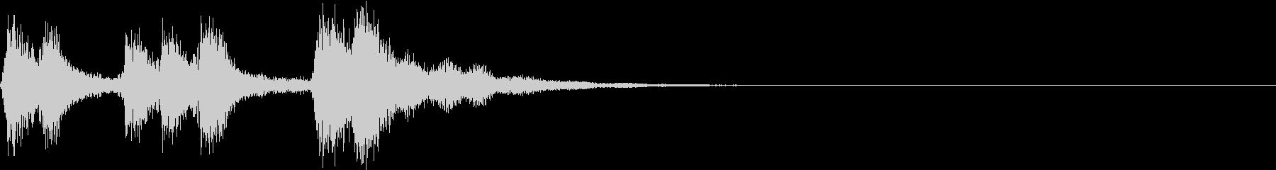 バイオリン!和風イメージの短いジングルの未再生の波形