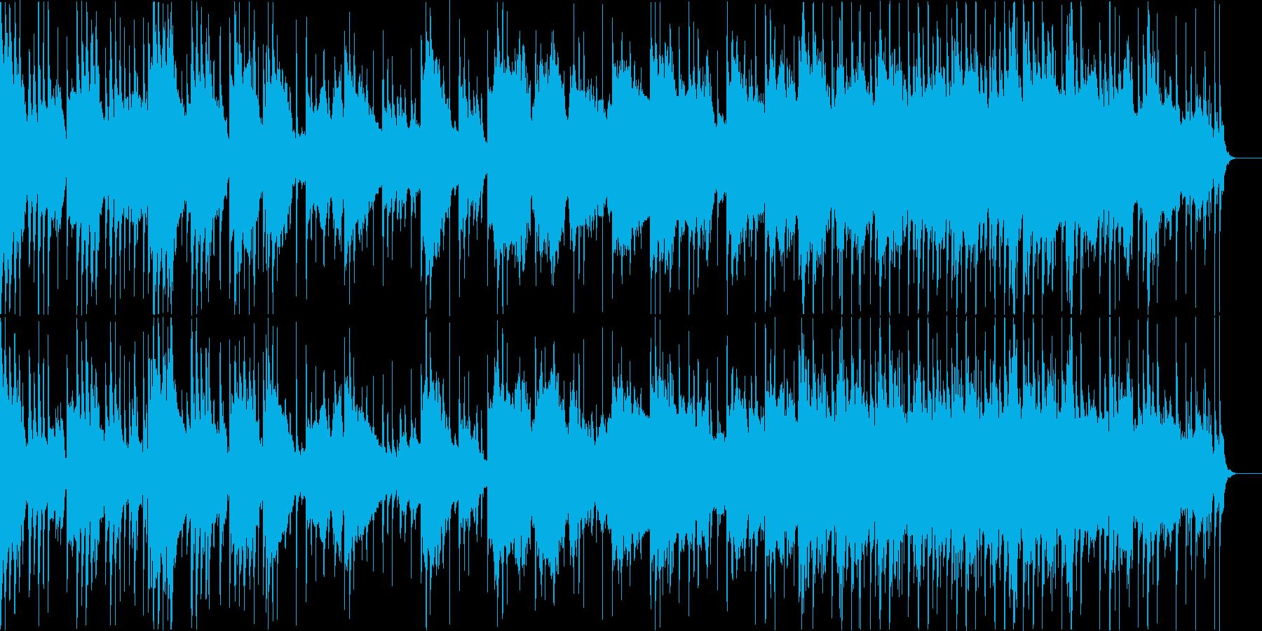 ゆったりと暖かい雰囲気の和風BGMの再生済みの波形