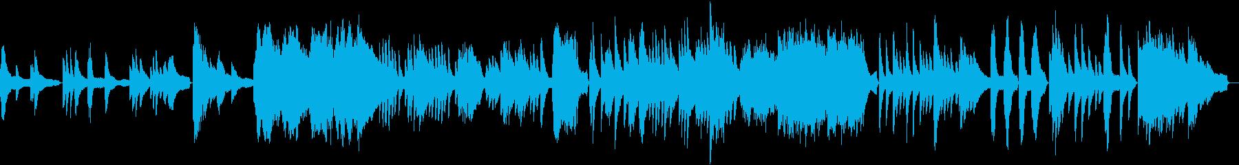 碧い海のきらめきを表現したピアノソロですの再生済みの波形