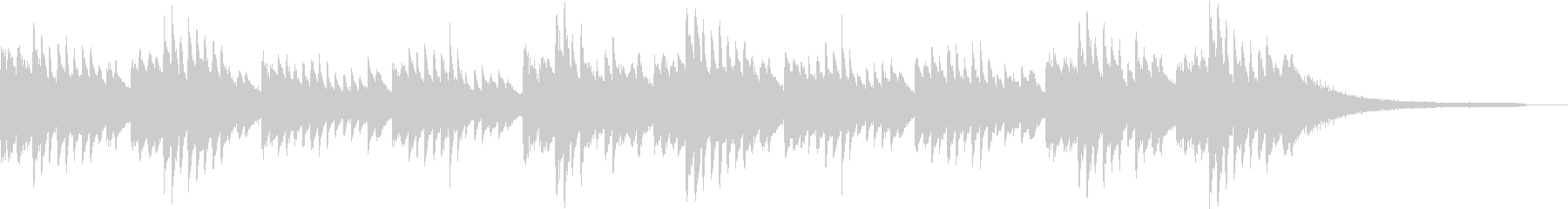 ミステリアスなピアノBGMの未再生の波形