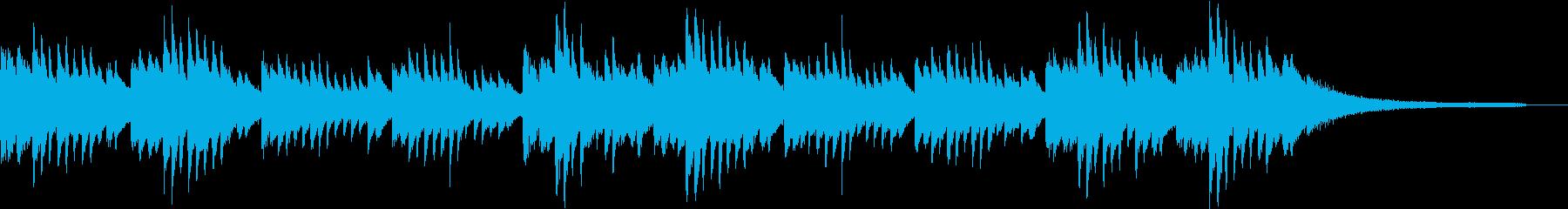 ミステリアスなピアノBGMの再生済みの波形