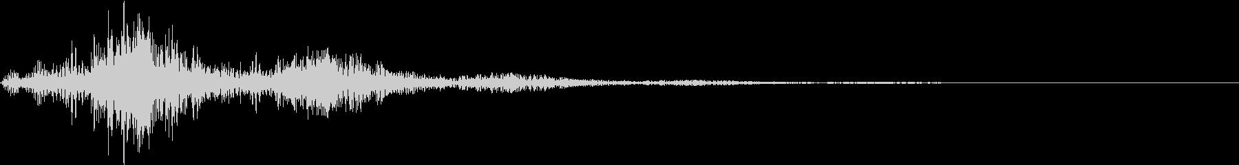 アプリの決定音の未再生の波形
