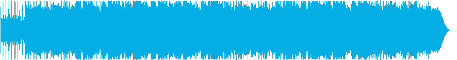 Melody silently flowing in the dark's reproduced waveform