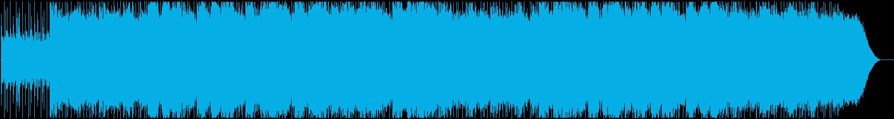 暗闇にひっそり流れるメロディーの再生済みの波形