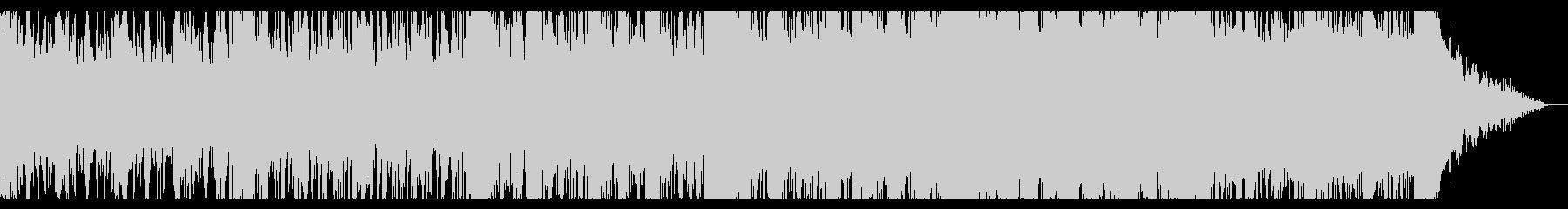 シネマティックなグリッジアンビエントの未再生の波形