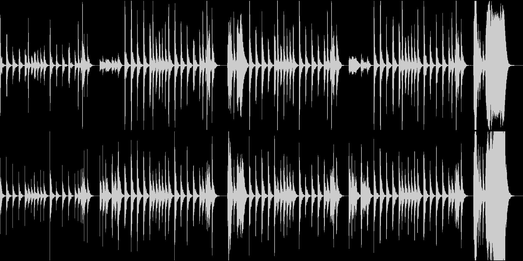 木管楽器のコミカル曲の未再生の波形