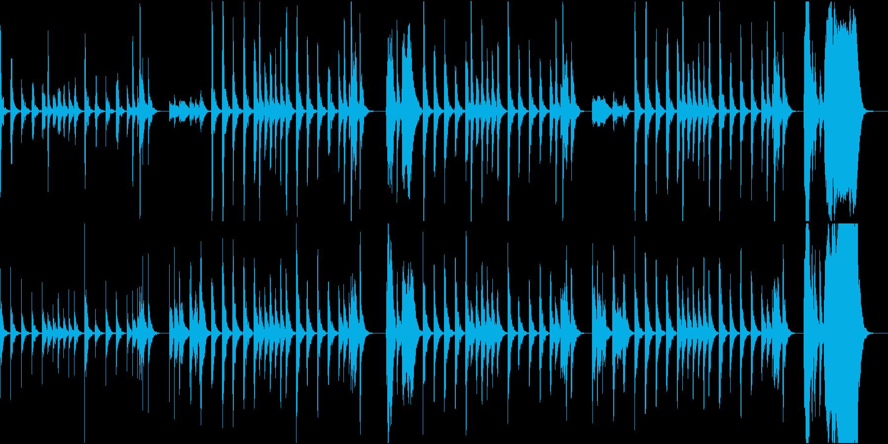 木管楽器のコミカル曲の再生済みの波形
