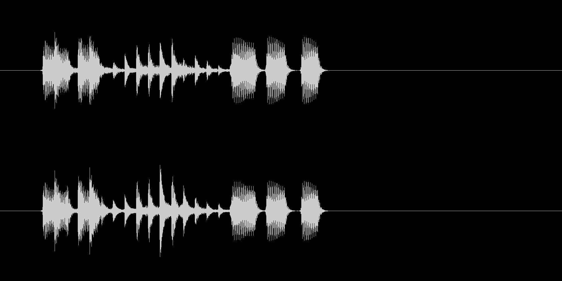 重低音が心地良いテクノポップスの未再生の波形
