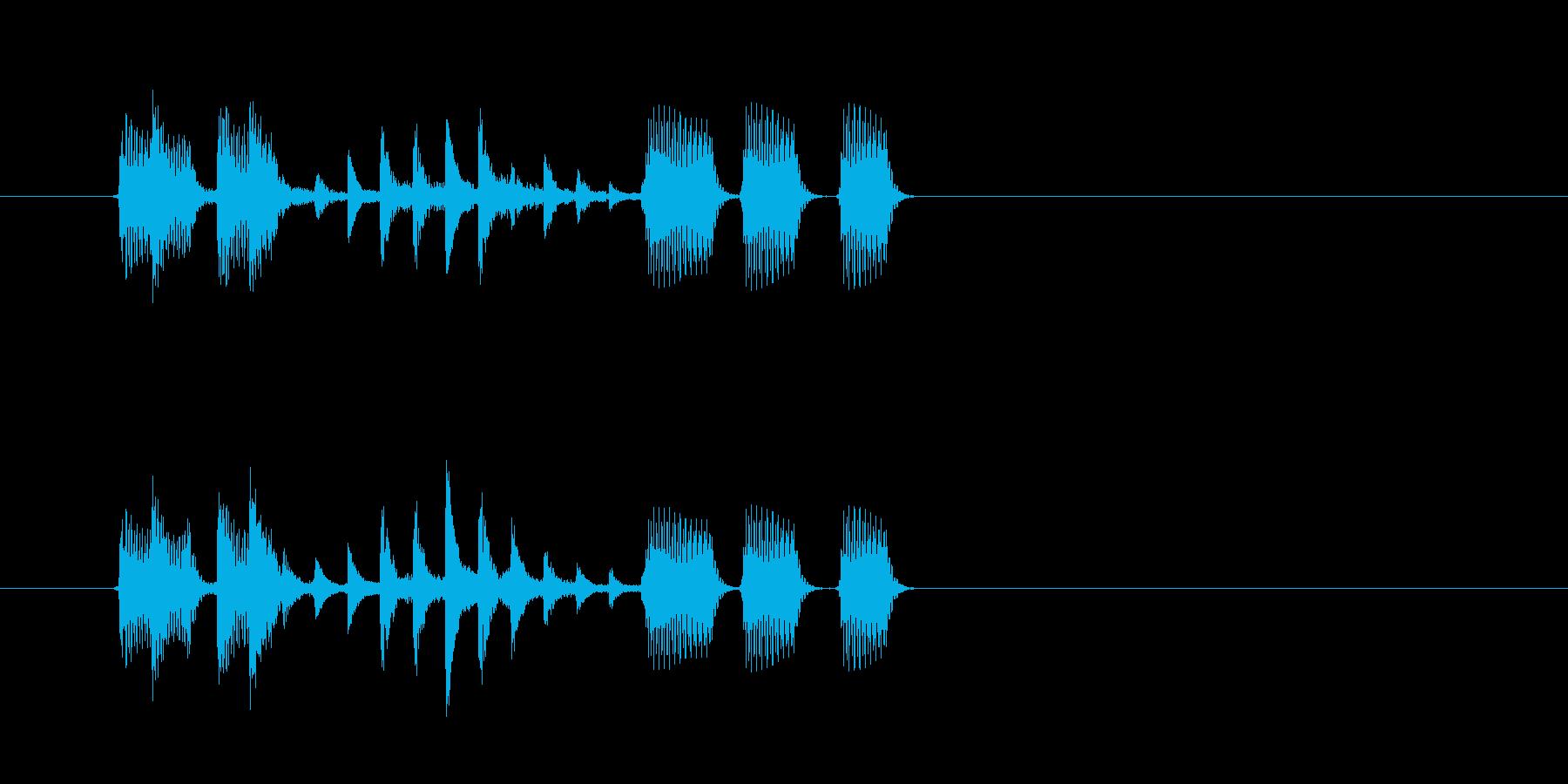 重低音が心地良いテクノポップスの再生済みの波形