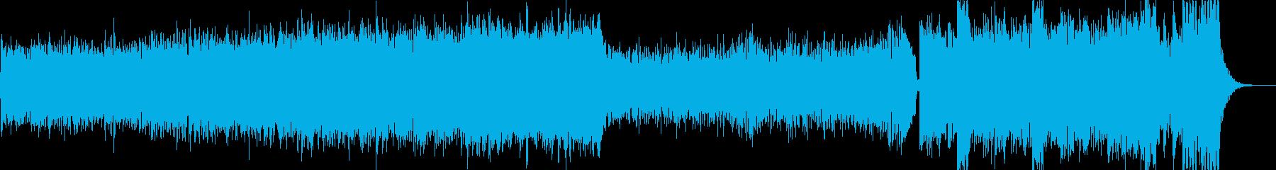 【劇伴】サスペンスアクション系BGMの再生済みの波形