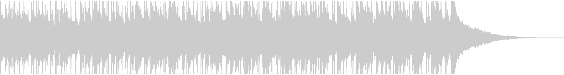 ウクレレ、ピアノの楽しい楽曲60秒verの未再生の波形