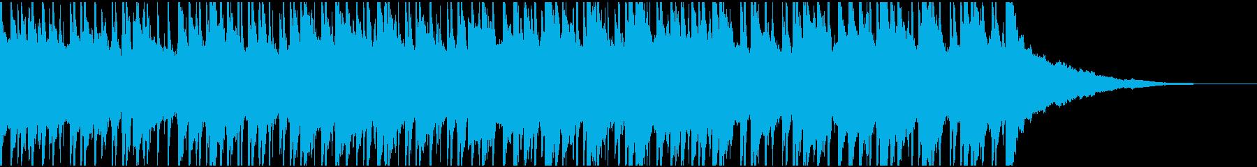 ウクレレ、ピアノの楽しい楽曲60秒verの再生済みの波形