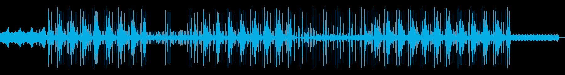 怪しい洋楽トラップビートの再生済みの波形