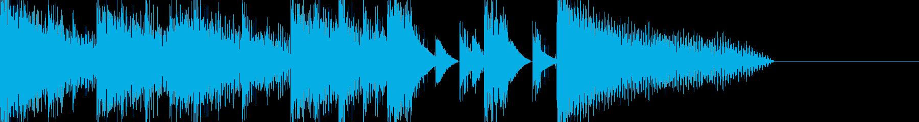 硬いピアノのちょっと怪しいキャッチの再生済みの波形