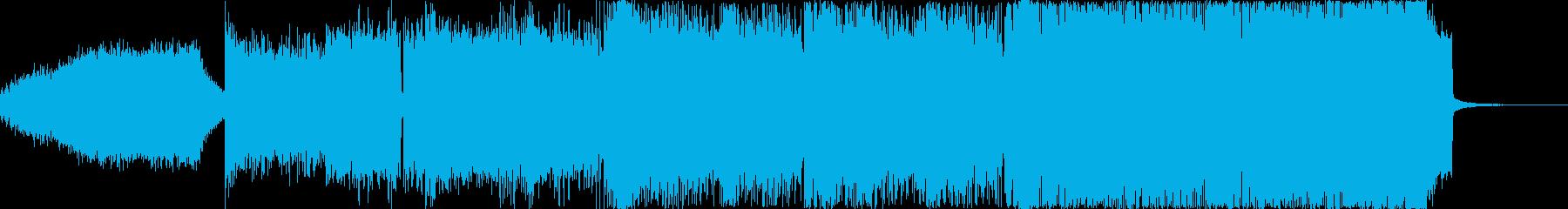 イカしたギターと電子サウンドの融合の再生済みの波形