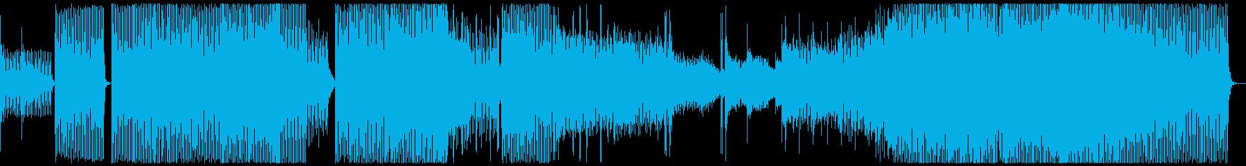 妖麗な世界観のダンサブルなテクノ楽曲の再生済みの波形