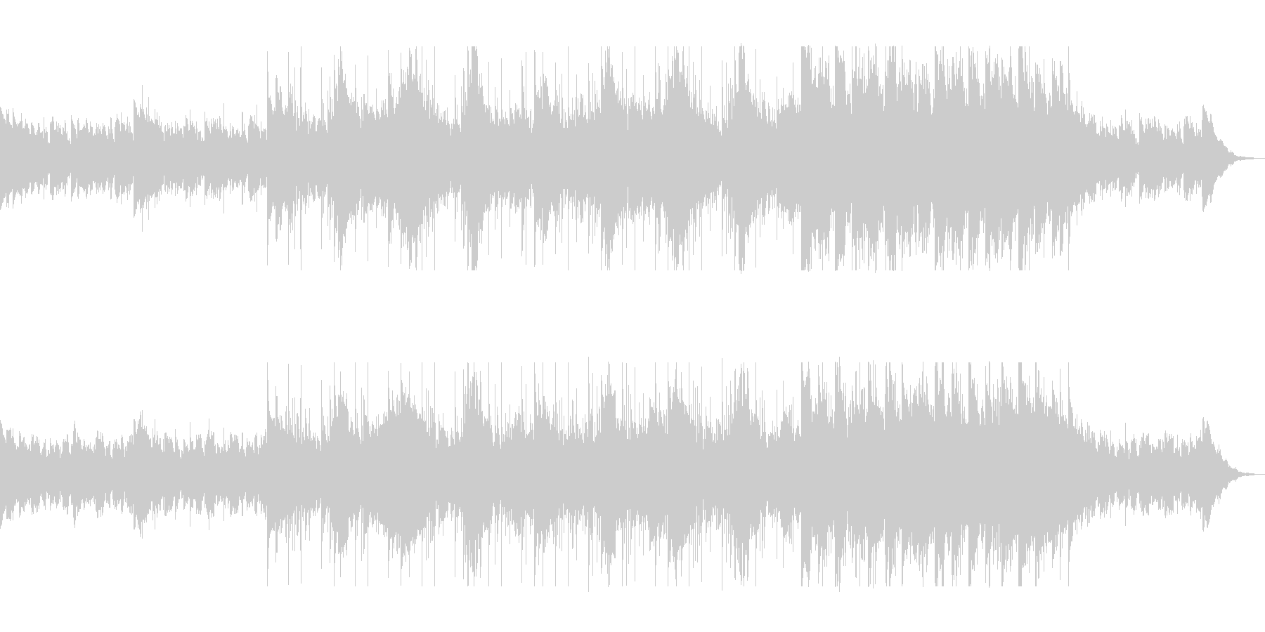 落ち着きのある綺麗なシンセサイザー曲の未再生の波形