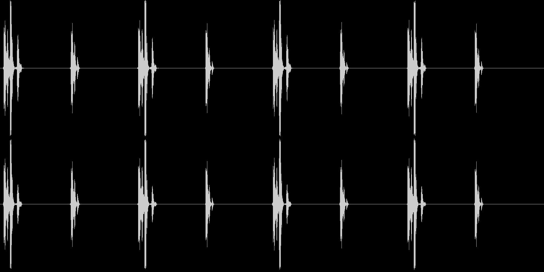 チクタクチクタク…(時計、刻み)の未再生の波形