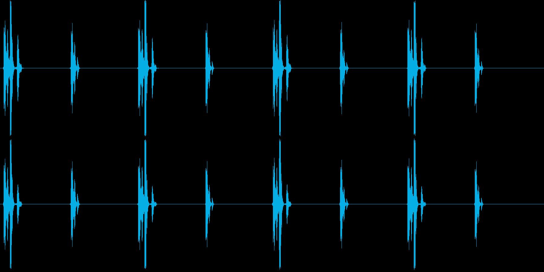 チクタクチクタク…(時計、刻み)の再生済みの波形