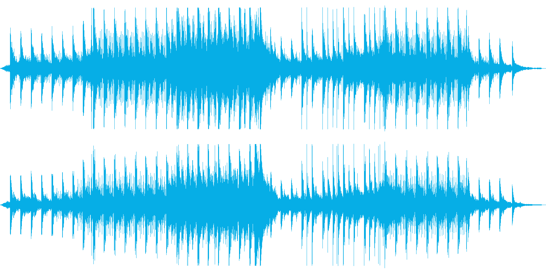 幻想・異空間なアンビエント曲の再生済みの波形