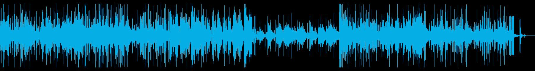 グリッジな実験音楽風ファンクIDMの再生済みの波形