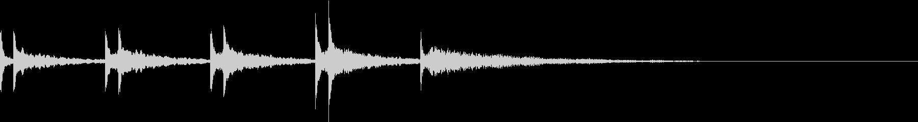 重厚な音色で5秒間カウントダウンしますの未再生の波形