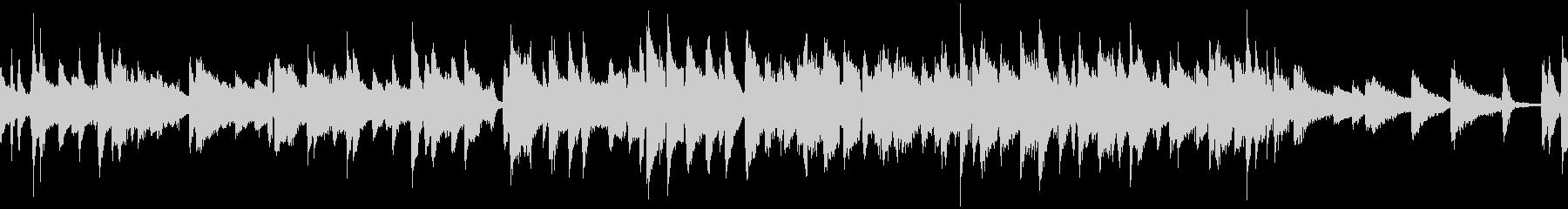 シンプルで明るいピアノジャズ曲:ループの未再生の波形