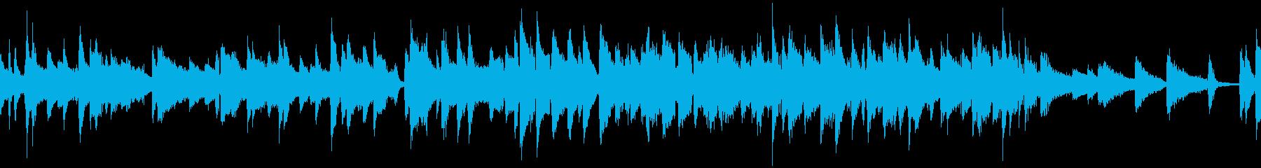 シンプルで明るいピアノジャズ曲:ループの再生済みの波形