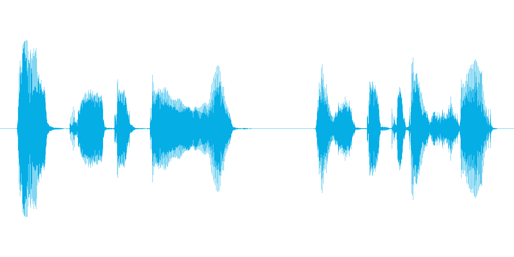 OKボタン(オッケーボタン)を、押して…の再生済みの波形
